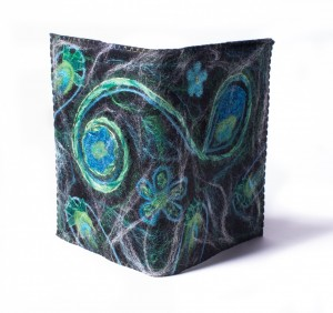 A5 boekenkaft groen-turquoise