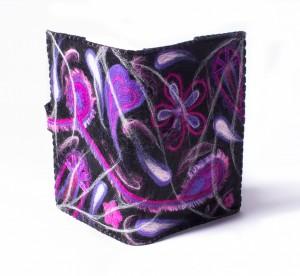 A5 boekenkaft paars-roze